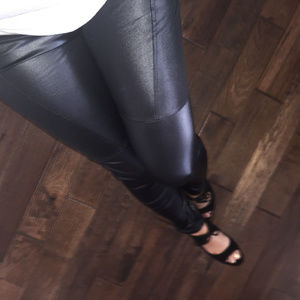 New! Faux Leather Leggings